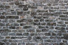 Stara popielata cegły ściana Obrazy Royalty Free