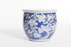 Stara porcelanowa ceramiczna waza Zdjęcia Royalty Free