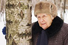 stara portreta zima kobieta obrazy stock