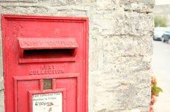 Stara postbox scena Zdjęcia Royalty Free
