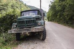Stara pracy ciężarówka Fotografia Stock