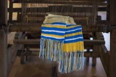 Stara przędzalniana maszyna i ręcznik, Ukraina Zdjęcie Stock