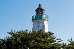Stara punkt wygody latarnia morska na Chesapeake zatoce w Virginia Obraz Royalty Free
