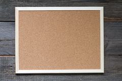 Stara pusta korek deska na rocznik desek retro tle Fotografia Stock