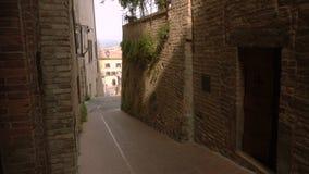 Stara pusta włoska ulica zbiory wideo