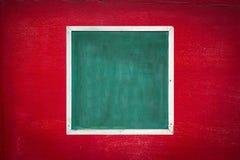 Stara rama i czerwona stara ściana Obraz Royalty Free