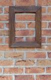 Stara rama na ściana z cegieł Zdjęcie Stock