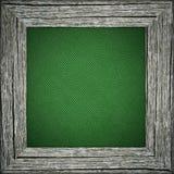 Stara rama z zieleni pasiastą kanwą obrazy stock