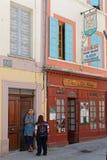 Stara restauracja w starych ulicach grzebień obrazy royalty free