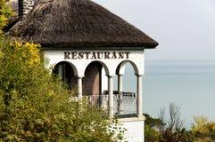 Stara restauracja w Tihany przy Jeziornym Balaton Zdjęcie Stock