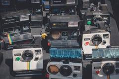 Stara retro kamery, rocznika polaroidu kamery kolekcja/ obraz royalty free