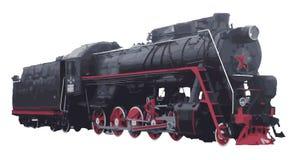 Stara retro lokomotywa Fotografia Royalty Free