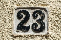 Stara retro obsada żelazo półkowa liczba 23 Obraz Royalty Free