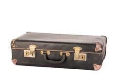 Stara, retro walizka odizolowywająca na bielu, Fotografia Royalty Free