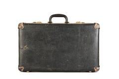 Stara, retro walizka odizolowywająca na bielu, Obraz Stock