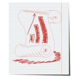 Stara rocznik ślimacznica z analytical rozkładem rysującym Zdjęcie Royalty Free