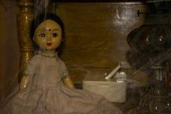 Stara rocznik lala jest w szafie Fotografia Stock