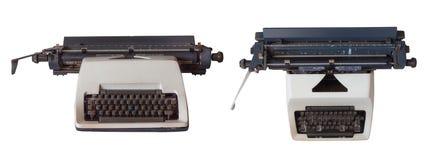 Stara rocznik maszyna do pisania na białym tle obraz royalty free