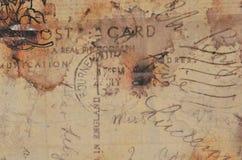 Stara rocznik pocztówka Grungy i rozmyty tło royalty ilustracja
