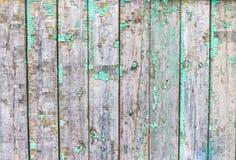 Stara rocznik zieleni deska poręcze, tekstura Zdjęcia Stock