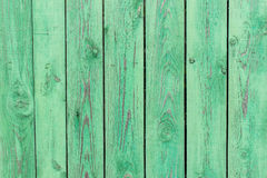 Stara rocznik zieleni deska poręcze, tekstura Fotografia Stock