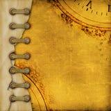 Stara rocznika albumu pokrywa z faborkami Obrazy Stock