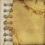 Stara rocznika albumu pokrywa z faborkami Obraz Royalty Free