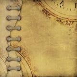 Stara rocznika albumu pokrywa z faborkami Obraz Stock