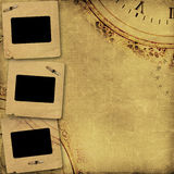 Stara rocznika albumu pokrywa z nitami Zdjęcie Royalty Free