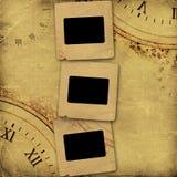 Stara rocznika albumu pokrywa z nitami Fotografia Stock