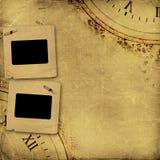 Stara rocznika albumu pokrywa z nitami Zdjęcie Stock