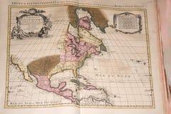 Stara rocznika antyka ziemi kuli ziemskiej mapa Obrazy Royalty Free
