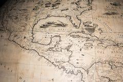 Stara rocznika antyka ziemi kuli ziemskiej mapa Zdjęcie Stock