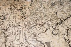 Stara rocznika antyka ziemi kuli ziemskiej mapa Fotografia Royalty Free
