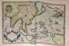 Stara rocznika antyka ziemi kuli ziemskiej mapa Zdjęcia Royalty Free