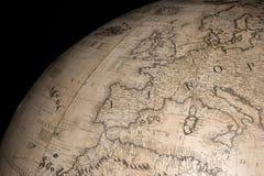 Stara rocznika antyka ziemi kuli ziemskiej mapa Obraz Royalty Free
