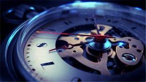 Stara rocznika Kieszeniowego zegarka twarz Obrazy Royalty Free