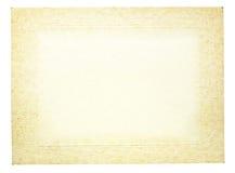 Stara rocznika papieru rama dla fotografii Fotografia Stock