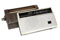 Stara rosyjska radiowa wirh torba obrazy stock