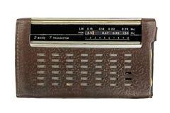 Stara rosyjska radiowa wirh torba fotografia stock