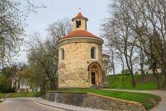 Stara rotunda St Martin wewnątrz w Vysehrad, Praga Obrazy Royalty Free