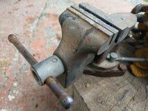 Stara rozpusta na drewnianej bazie zdjęcie stock