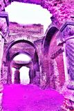 Stara ruina Kościelny Crestin Ortodox fotografia stock