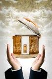Stara ryżowa kuchenka w ręce Fotografia Stock