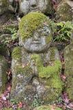 Stara Rzeźbiąca Buddha statua w arashiyama, Kyoto, Japonia obraz stock