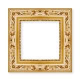 Stara rzeźbiąca i złota drewniana rama z środkową pustą przestrzenią fotografia royalty free