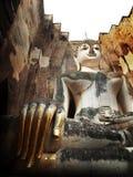 Stara rzeźba w pagodowym Sukhothai Tajlandia Zdjęcia Royalty Free