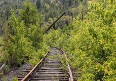 Stara rzucająca linia kolejowa zdjęcie royalty free
