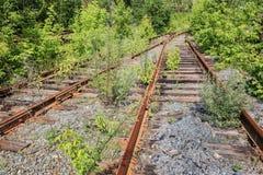 Stara rzucająca linia kolejowa obrazy stock