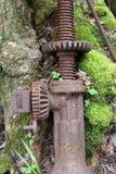Stara samochodowa dźwigarka drzewem zdjęcie stock